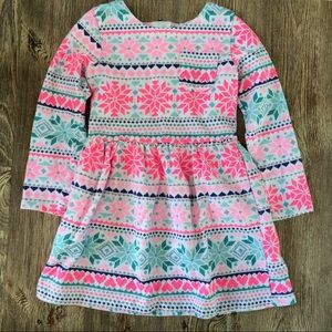 Carter's toddler girls fair isle dress. Size 3T.